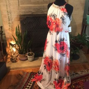 Crystal Doll Dresses - Floral Print Dress